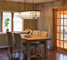 Ella Dining Room And Bar by Classic Crystal Contemporary Rectangle Chandelier Lighting Of Ella