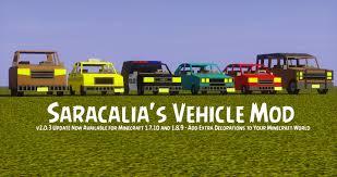 Saracalia s Vehicle Mod Download Minecraft Mod Downloads
