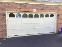 Ideas Red Brick Painted House With Cool White Menards Garage Door