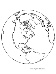 Printable Planet Earth Globe Coloring Page