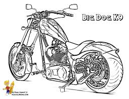 Big Dog K9 Motorcycle Coloring Picture At YesColoring