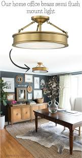 Love All Of The Flush Mount Lighting Options In This Post Especially Brass Semi
