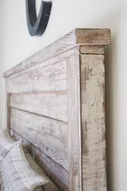 Ana White Farmhouse Headboard by Rustic Headboard Aged Wood With Vinegar Steel Wool And White
