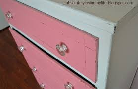 Pink Chevron Dresser Knobs by Loving Life Refinished Pink And White Dresser