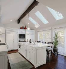 Lighting For Sloped Ceilings by Kitchen Lighting For Vaulted Ceilings Silver Gas Oven Range Cream