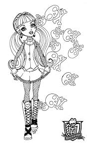 Monster High Color Pages Unique Classic 41 Monster Coloring Pages