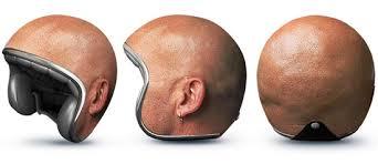 Helm Kepala Botak Ini Didesain Dengan Atasan Yang Mulus Dan Gambar Tiga Dimensi Orang Berkepala Mengenakan Maka Kamu Tidak Akan