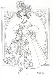 Ladies In Historical Costume 1834 Princess World Shoujo Coloring Page P12