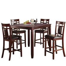 Swish Cashew Wood 5 Pieces Counter Height Dining Set In Brown By Poundex Dorel Living Andover Faux Marble Counter Height 5 Pc Ding Set Denmark Side Chair Designmaster Fniture Ava Sectional Cashew Hyde Park Valencia Rectangular Extending Table Of 4 Button Back Chairs Room Big Sandy Superstore Oh Ky Wv Hampton Bay Oak Heights Motion Metal Outdoor Patio With Cushions 2pack Sofa Usb Charging Ports Intercon Nantucket Transitional 7 Piece A La Carte And Liberty