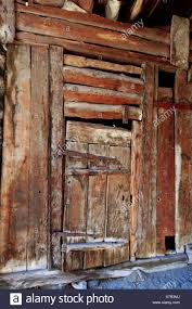 100 Log Cabins Switzerland BourgSaintPierre Valais Log Cabin Old Door Wood