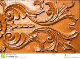 thai style wood carving stock photos image 16810743