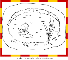 Coloring Page Pond Coloring Pages Free Pond Life Coloring Pages