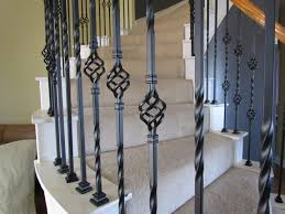 Iron Stair Railing - Baluster Store Iron Stair Parts Wrought Balusters Handrails Newels And Stairs Amusing Metal Railing Parts Extordarymetalrailing Banister Baluster Railing Adorable Modern Railings To Inspire Your Own Shop Kits At Lowescom Stainless Steel Our 1970s House Makeover Part 6 The Hardwood Entryway Copper Home Depot Model Staircase Metal Spindles For High Quality Neauiccom 24 Best Craftsman Style Remodeling Ideas Images On This Deck Stair Was Made Using Great Skill Modular