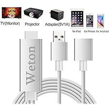 Amazon Lighting to HDMI Cable Adapter Weton Lightning Digital
