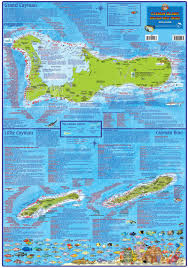 Cayman Islands Dive Map Franko Maps