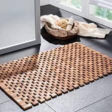badvorleger holz rutschfeste badematte robuste holzmatte für badezimmer sauna wellnessbereich badteppich aus 100 akazienholz 50x80 cm