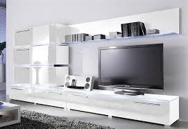 wohnwand line set 7 tlg 3 hängeschränke 2 glasbodenpaneele 2 tv lowboards kaufen otto