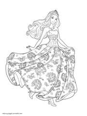 Free Coloring Pages Barbie And Popstar