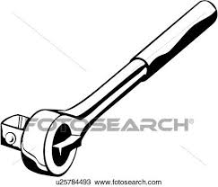 Clipart of socket tool wrench u Search Clip Art