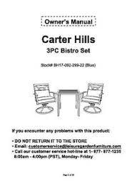 better homes and gardens carter hills 3 piece outdoor bistro set