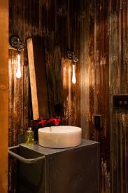Industrial Bathroom Mirror Lights by Recycle Light Bulbs Bathroom Industrial With Above Counter Sink