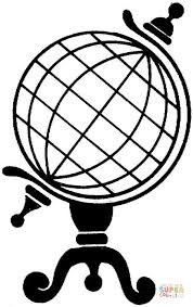 Click The Standing Globe Coloring Pages To View Printable Version Or Color It Online Compatible With IPad And Android Tablets