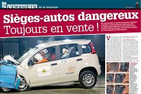 crash test siege auto bebe sieges autos enfants dangereux en vente attention