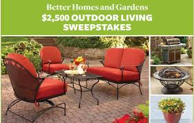 Better Homes and Gardens $2500 Outdoor Living Sweepstakes MomStart