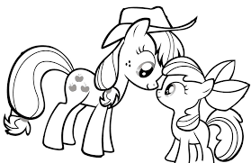 Download My Little Pony Looking At Each Other Coloring Page