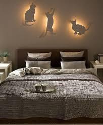 Diy Bedroom Lighting Decor Idea Indirect Cat Silhouettes