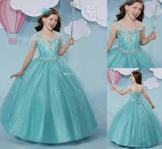 cute cheap flower girls pageant dress ball gown 2017 with jacket