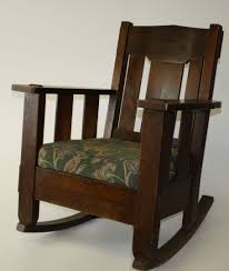 stickley and brandt oak arts and crafts rocking chair jpg
