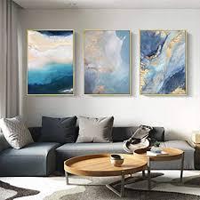 okyqz moderne abstrakte blaue marmorplakate leinwanddrucke