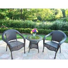 3 Piece Bar Height Patio Bistro Set by International Caravan Black Iron 3 Piece Patio Bistro Set Free