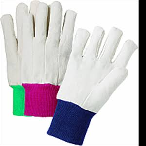 West Chester 55080 Large 8 oz. White Canvas Knit Wrist Glove