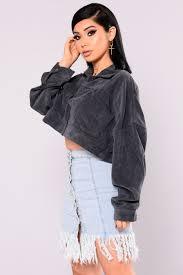 cropped jacket navy