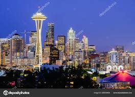 100 Beautiful Seattle Pictures Illuminated Skylines Downtown Blue Hour View Kerry