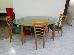 Preloved Oval Shape Glass Top Dining Table, Furniture ... Luciana Presso Brown 5 Pcs Faux Marble Top Ding Table Set 30 Most Terrific Counter Height Ding High Top Room Table Camelia Espresso Round Glass With Inverted Base By Crown Mark At Dunk Bright Fniture Kitchen Amazing And Chairs Ktaxon Piece Set 4 Leather Chairsglass Fnitureblack Marble Effect Ding Table And Chairs Snnonharrodco Room Giveandgetco W Dinette Black White Rectangular Belfort Essentials Giantex Padded Metal Frame For Breakfast Verano 5pc Contemporary 45 Steve Silver Rooms Less D989 Wglass Grey Global Woptions