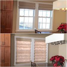 Light Filtering Curtain Liners by Open Or Closed These Cordless Linen Fabric Hobbled Roman Shades