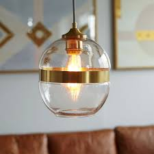 Decorative Metal Lamp Banding by Banded Glass Pendant West Elm