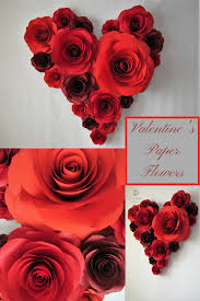 Valentines Day Decor Heart of Paper Flowers Valentine s Day
