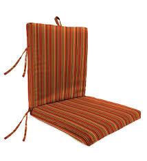 Sunbrella Classic High Back Chair Cushion With Ties, 46