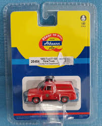 Athearn HO Scale ( 1/87)1955 Ford F-100 Panel Truck Tri-State Fire ...