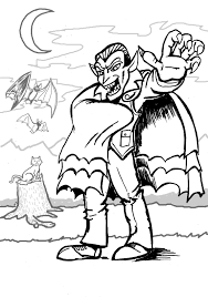 Mickey Mouse Halloween Coloring Pictures by Vampire Coloring Pages For Kids Free And Printable Six Class
