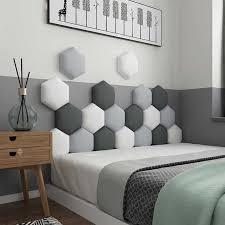 hause anti kollision hexagonal weichen kopfteil wand matte boden pad wohnzimmer kinder schlafzimmer nacht bett kissen dekorative
