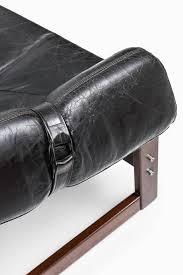 Percival Lafer Brazilian Leather Sofa by Percival Lafer Three Seat Sofa In Black Leather By Lafer Mp In