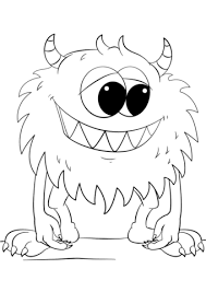 Click To See Printable Version Of Cute Cartoon Monster Coloring Page