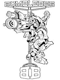 Coloriage A Imprimer Transformers Bumblebee Wwwpapedelcacom