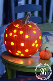Pumpkin Carving With Drill by No Drill Holey Pumpkin Diy Stonegable