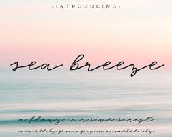 Sea Breeze Cursive Font
